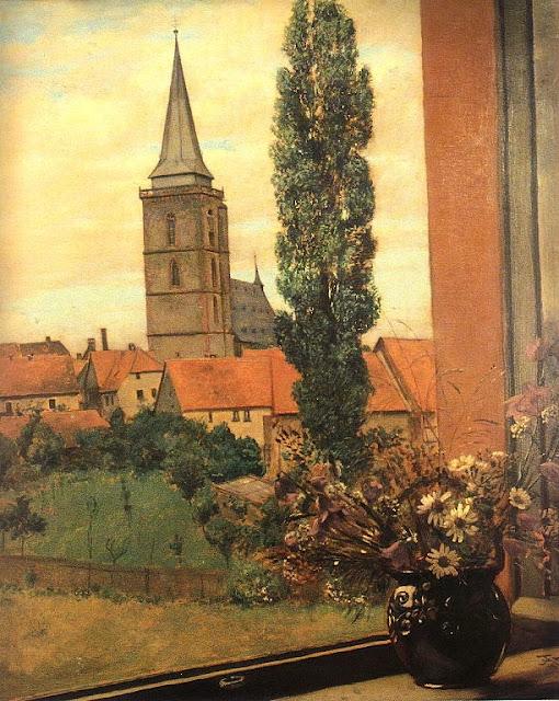 Hans Thoma - Blick durchs offene Fenster (Oberursel)