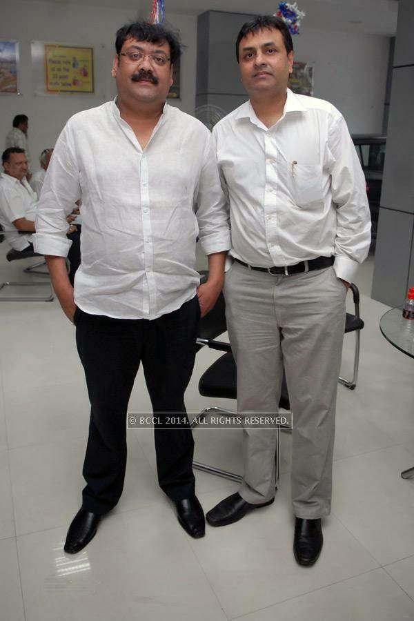 Rohit Macwan and Anuj Pande at Vishal Barbate's do at Nag road in Nagpur.