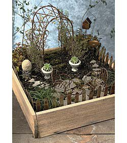 Furniture gourmet it 39 s a small world miniature really - Fairy garden containers for sale ...