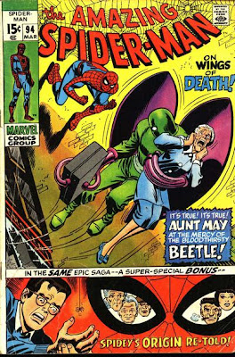 Amazing Spider-Man #94, origin retold, the Beetle