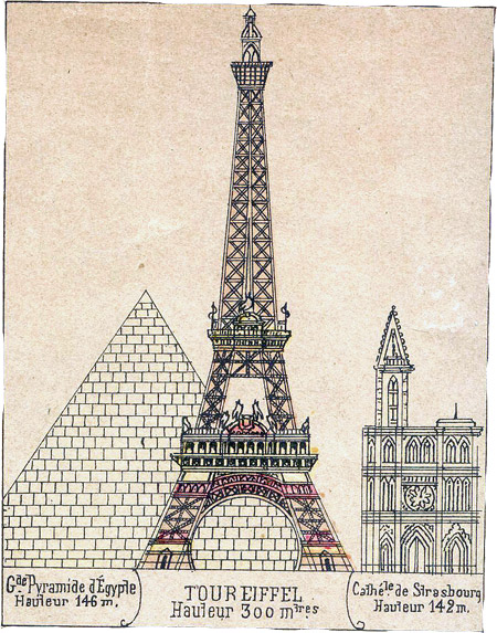 Vintage Eiffel Tower Papercraft