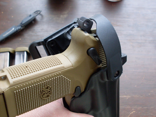 Rec'd the Blade-tech WRS Duty Holster for my FNP-45 Tactical