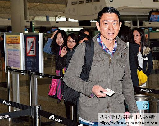 星期一(十九日),劉華去到台灣為金馬獎做評委。