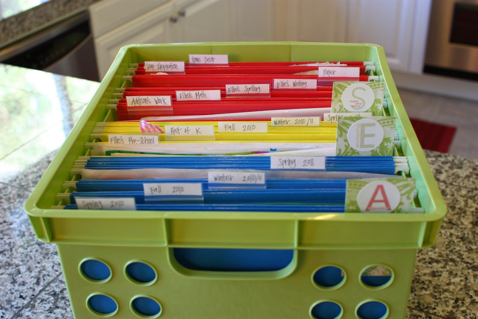 Scrapbook ideas school project - Project Life Organization
