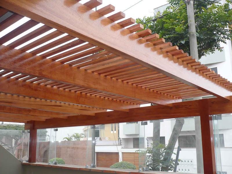 Cocheras de madera with cocheras de madera great for Tejabanes para terrazas