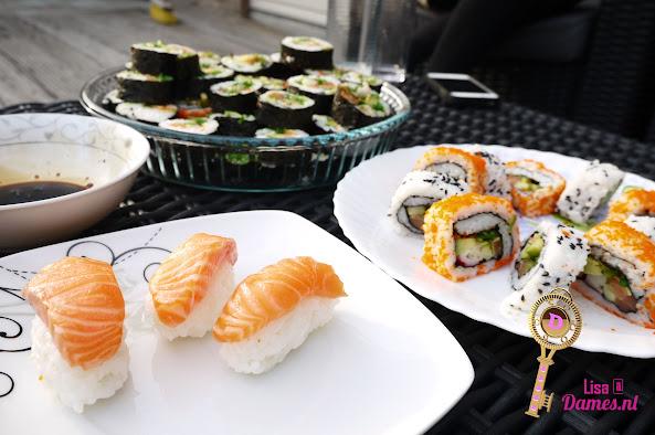 homade sushi