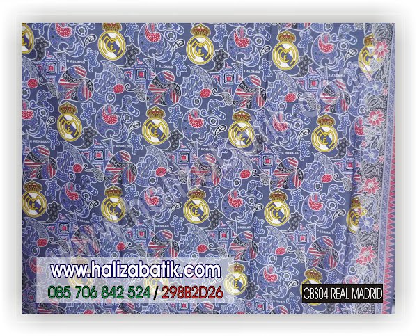CBS04+REAL+MADRID Batik Modern, Gambar Kain Batik, Model Batik, CBS04 Real Madrid