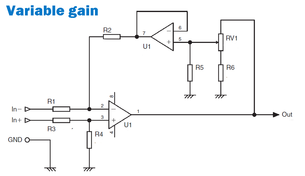 Addition Variable Gain Amplifier Wiring Diagrams