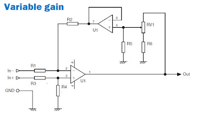 Adding variable gain power amplifier  circuit