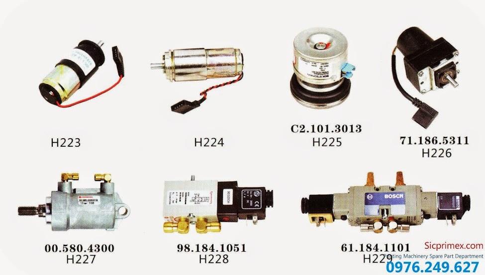 Báo giá linh kiện máy in Hải Đức Bảo nhập khẩu chính hãng H223-229