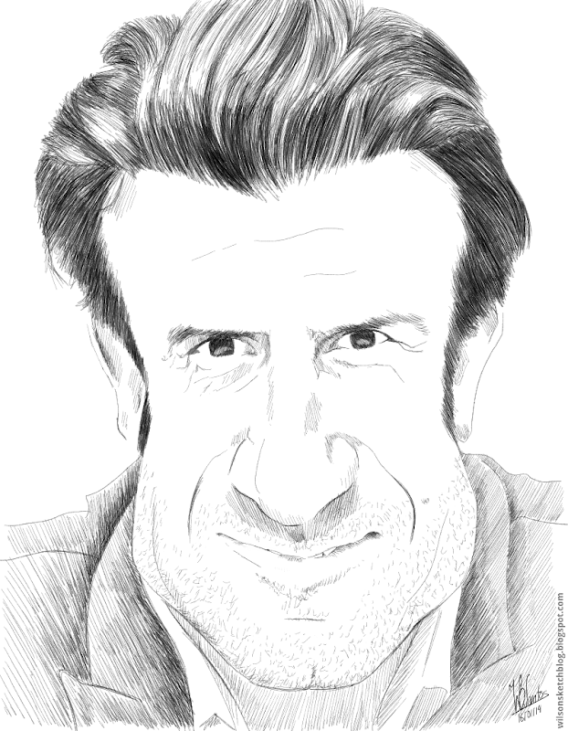 Caricature of Luís Figo, using ArtFlow.
