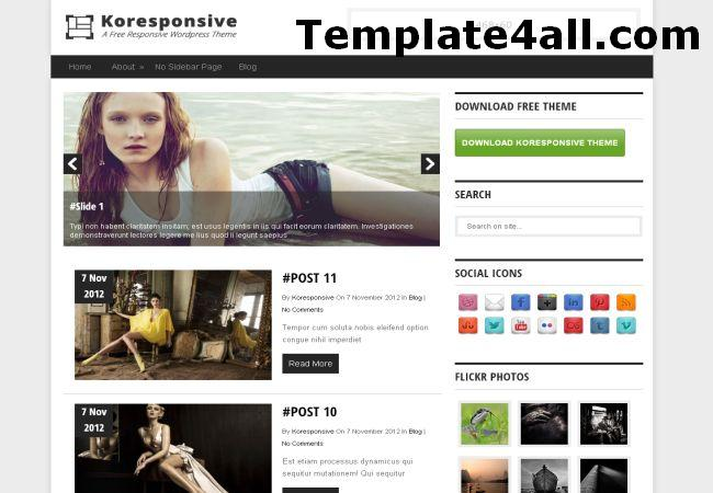 Responsive Fashion Magazine Wordpress Theme