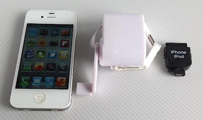 プロテック UDC-600WH、ラスタバナナ「RBHE004」、iPhone4S