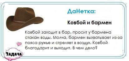 ДаНетка: ковбой и бармен