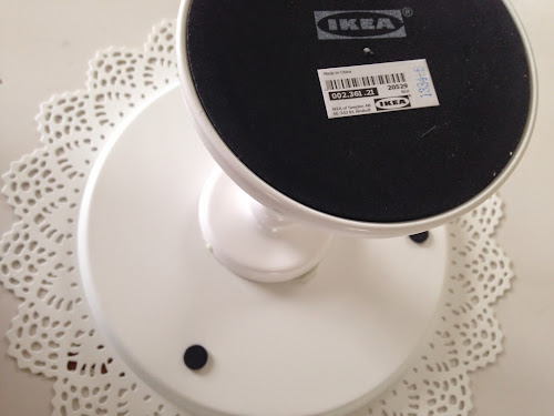 Instant cake plate tutorial, ikea metal candle holder plate
