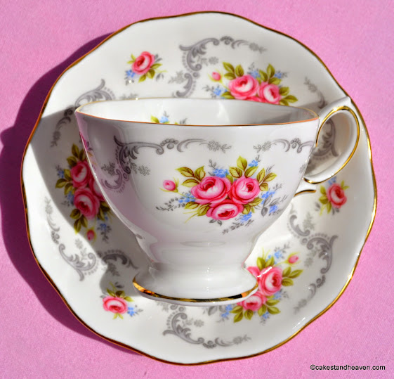 Rose Bouquet Teacup and Saucer