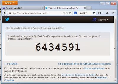 AjpdSoft Gestión Seguidores Twitter en funcionamiento