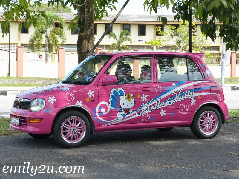 "Pink ""Hello Kitty"" Car"