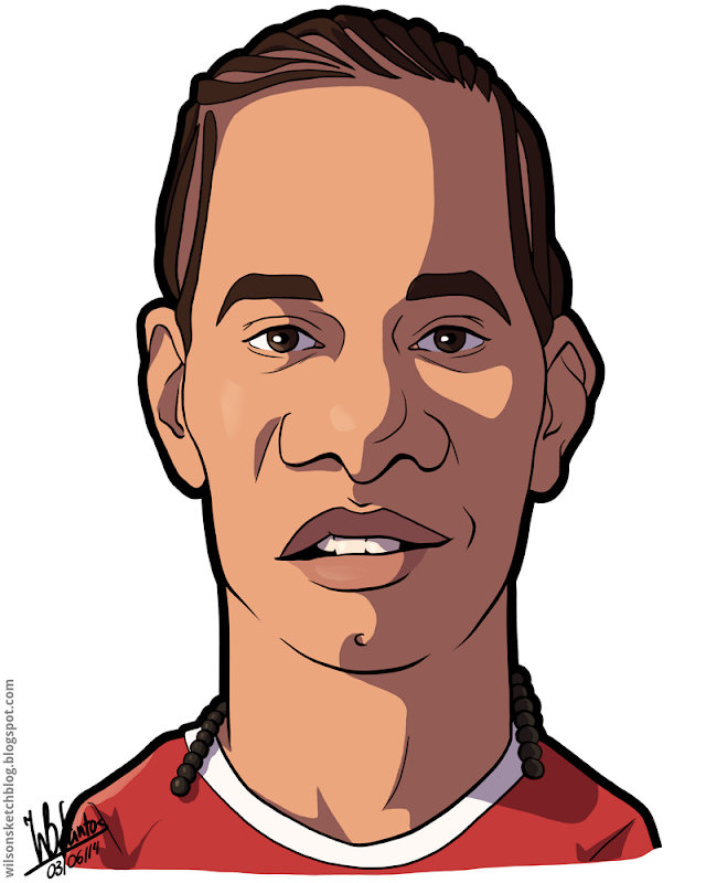 Cartoon caricature of Hélder Costa.