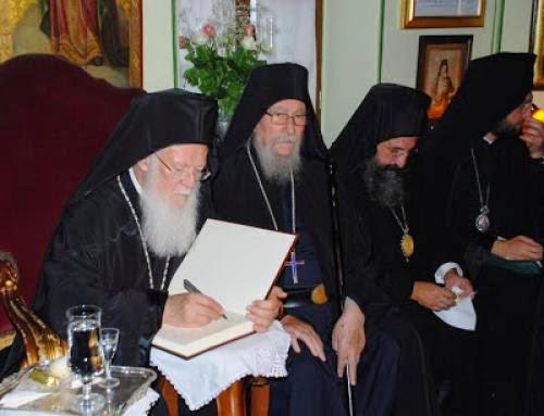 Ecumenical Patriarch Addresses Esphigmenou Occupation