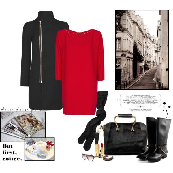 Crvena dnevna haljina