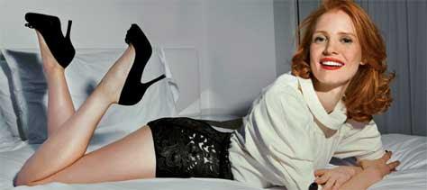 Jessica Chastain, en la cama