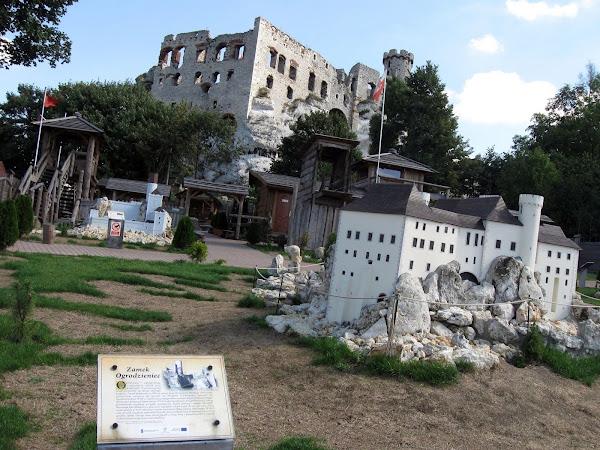 park zamków jurajskich - ogrodzieniec w tle