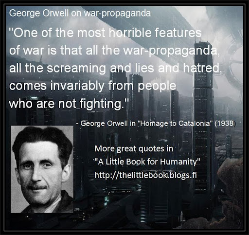 orwells political message to the world The cover of 'nineteen eighty-four' by george orwell, e-book version  it's no  wonder — in today's political world of alternative facts and fake.