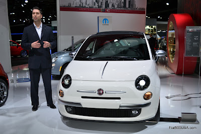 Matt Davis with the Fiat 500 by Gucci II