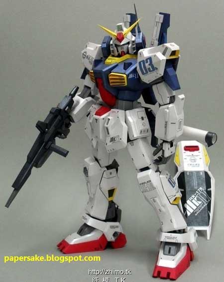 Gundam MkII Papercraft
