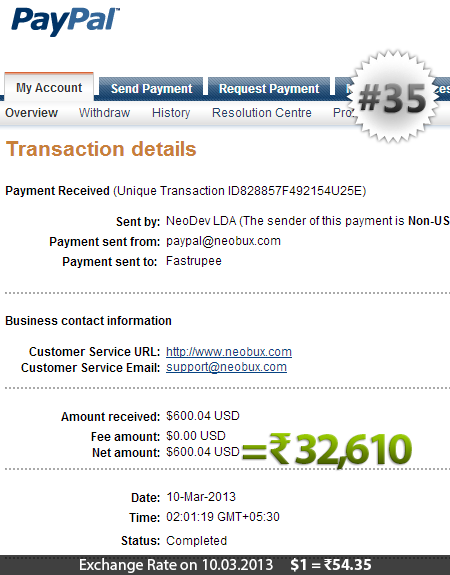 Neobux Payment Proof 35