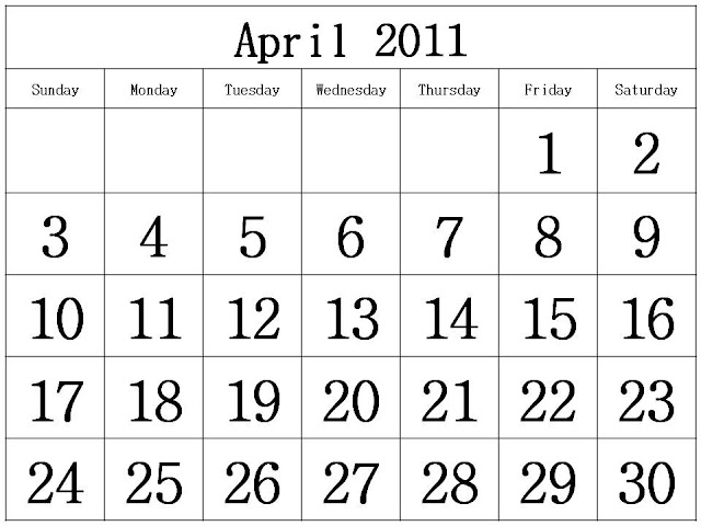 monthly calendar 2011 template. template: To download and