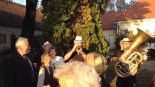 Zenekar a faluház udvarán - Jákó szüret