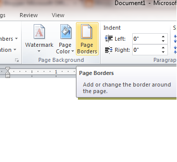 microsoft word how to put a border around a page