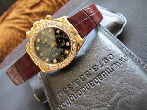 bán đồng hồ rolex daytona 6 số 116518 – dây da – vàng 18k – size 40mm