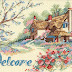 Cottage Welcome cross stitch pattern