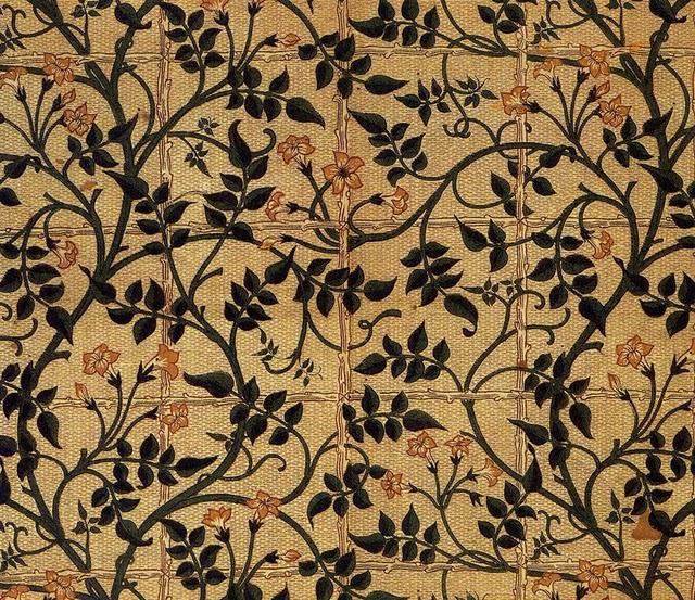 William Morris Trellis: Colored Thread: March 2011