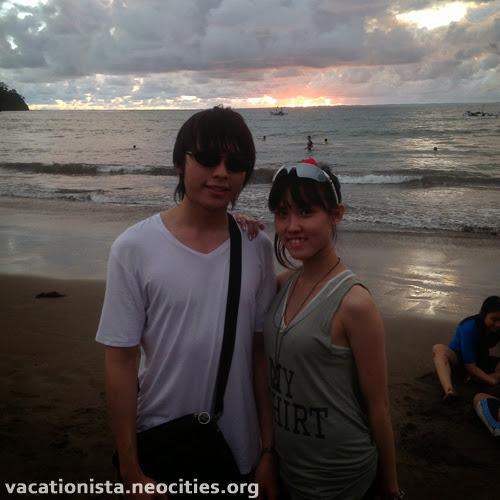 Steve and Alexia on the beach