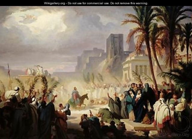 The Entry of Christ into Jerusalem, Félix Louis Leullier (1811–1882)