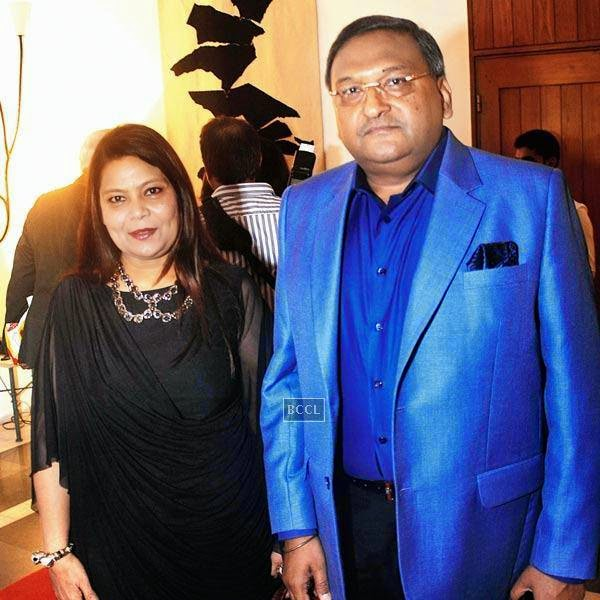Meena Nath and Shakti Nath during pre-show cocktail for Manish Arora's couture show at the French Embassy in Delhi.