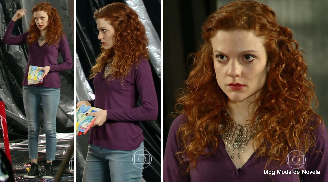 look da Vanessa na novela Em Família