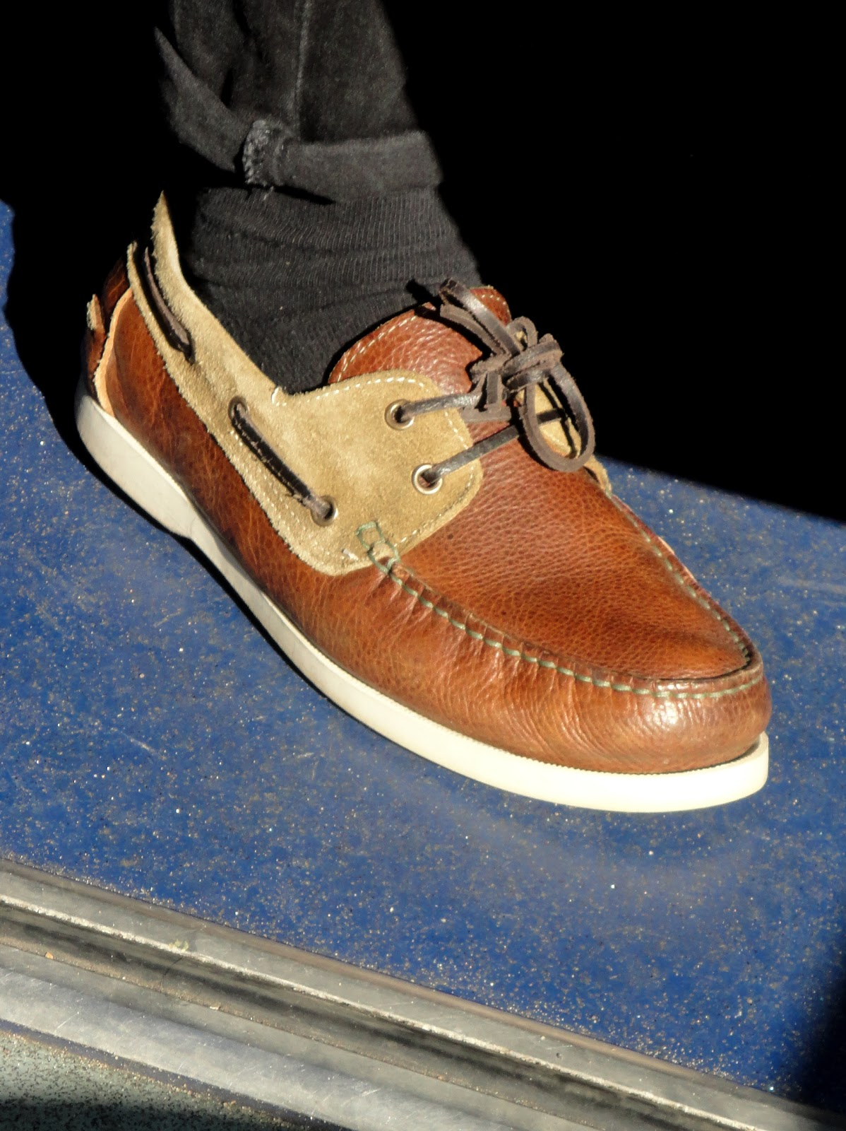 Brown Leather Boat Shoes Style