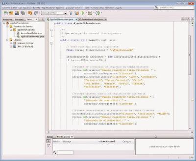 Probar clase Java de acceso a base de datos Microsoft Access y compilar aplicación Java
