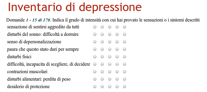 Questionari diagnostici via web