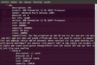 Saber caracteristicas de un ordenador en ubuntu