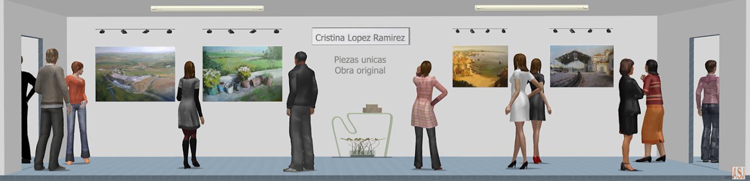 Sala de exposición virtual de Pinturas de Cristina López Ramírez