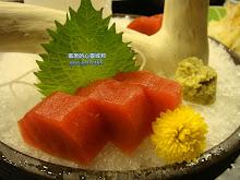 斗六市松屋洋風和食-油亮亮的鮪魚生魚片