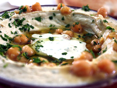 Hummus at Abu Kamel in Jerusalem Israel