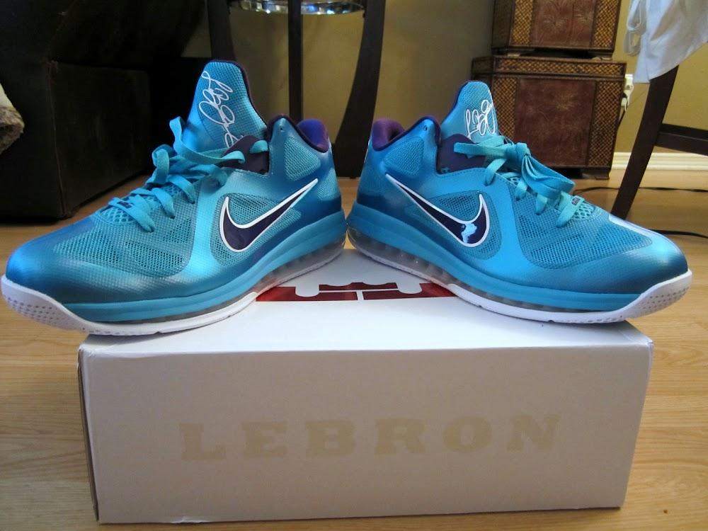 2015 Online Cheap Nike Lebron 9 Low Turquoise Blue Court Purple