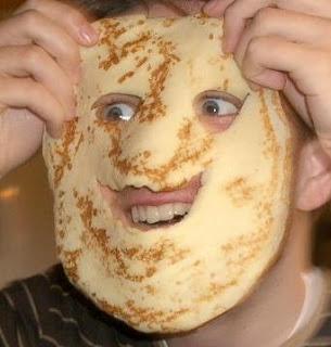 funny pancake face